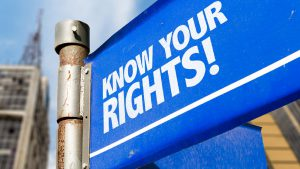 Know Your Rights Stock Photo