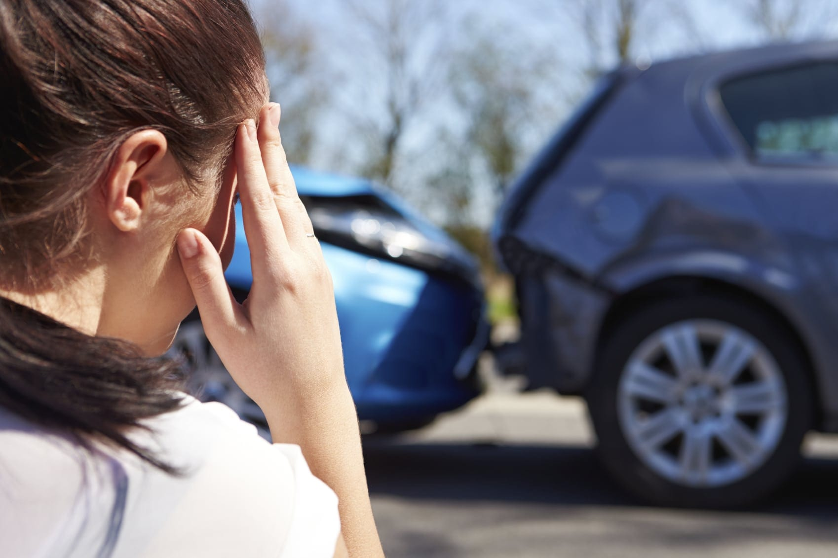 Rear End Car Accident Stock Photo