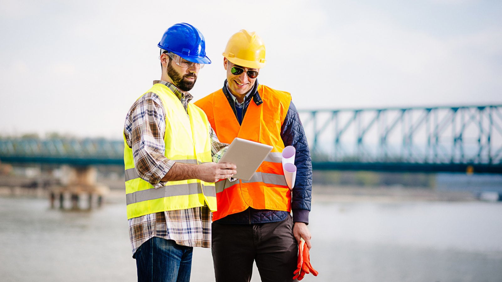 Engineer And Construction Site Manager Stock Photo