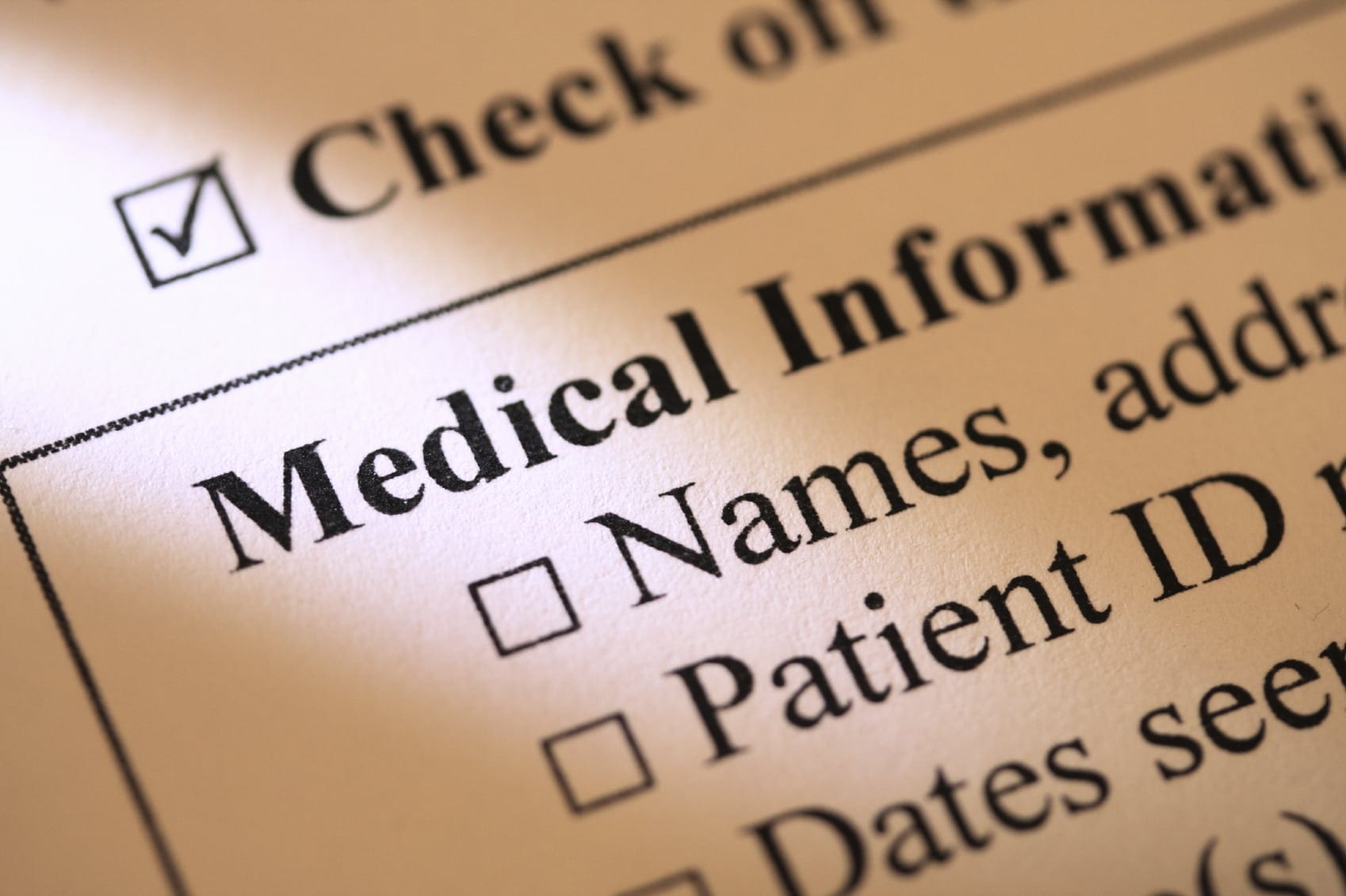 Medical Forms Stock Photo
