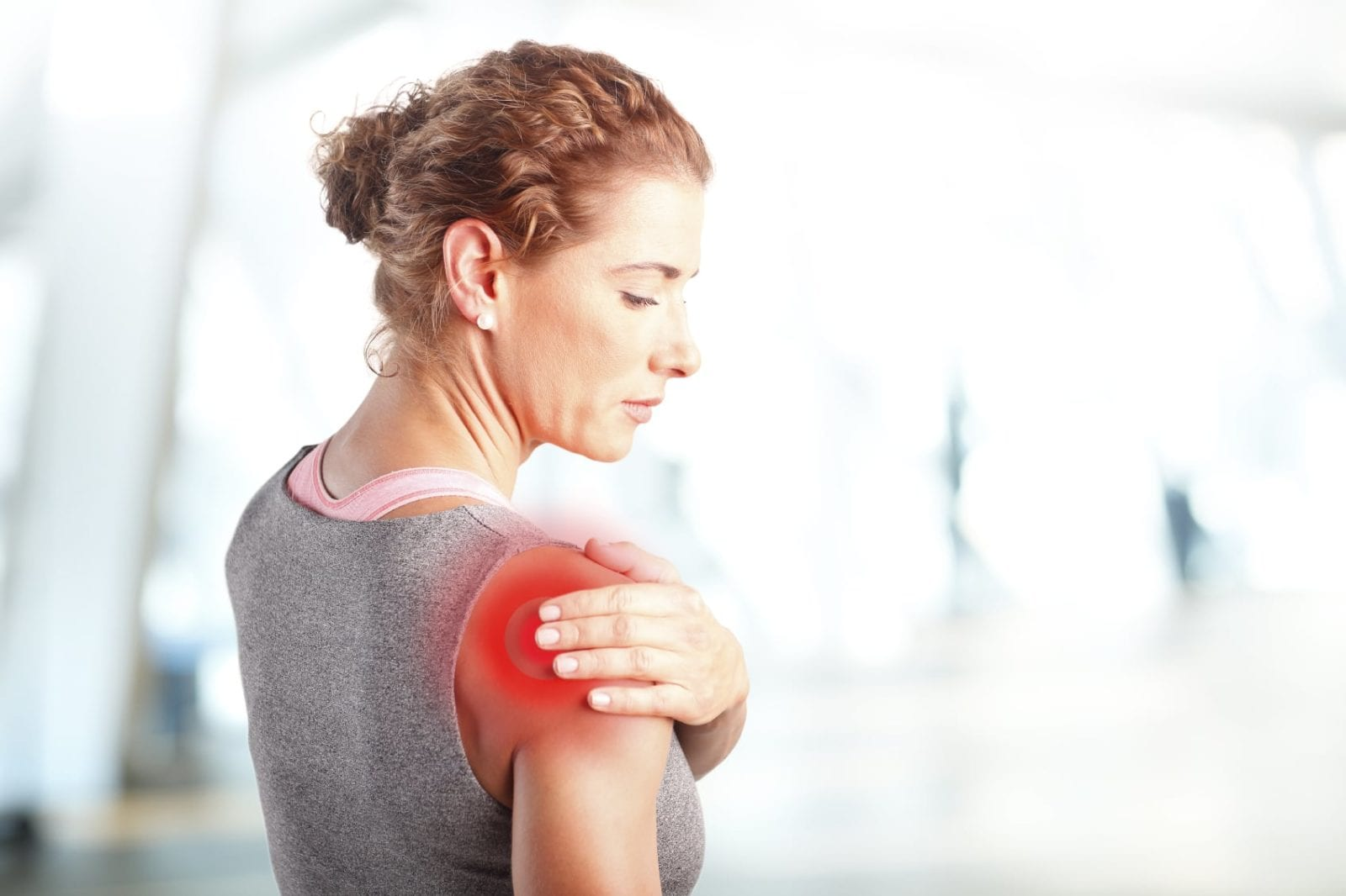 Woman With Shoulder Pain Stock photo
