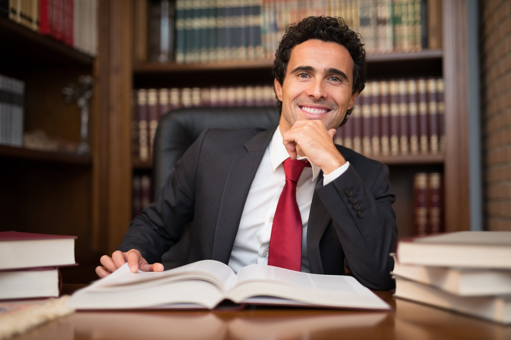 Attorney Sitting In His Office Stock Photo