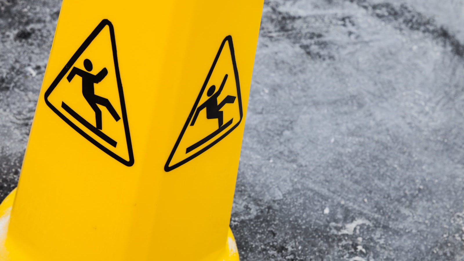 Caution Wet Surface Stock Photo
