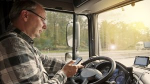 Truck Driver Texting & Driving