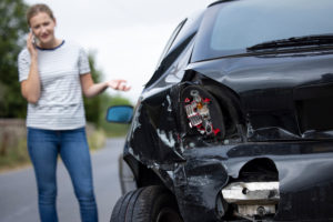 a woman calling a lawyer after a car accident in Columbia, SC