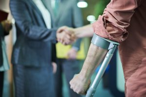a man hiring a lawyer after a car accident injury in Greenville, SC