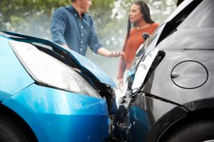 two drivers arguing over fault after a Columbia, SC, car accident