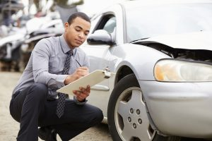 an insurance adjuster evaluating a Columbia, SC, car accident claim